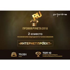 Агентство PRonline взяло «серебро» в народном голосовании на конкурсе «Премия Рунета 2018»