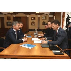 Игорь Маковский провел рабочую встречу с губернатором Владимирской области Владимиром Сипягиным