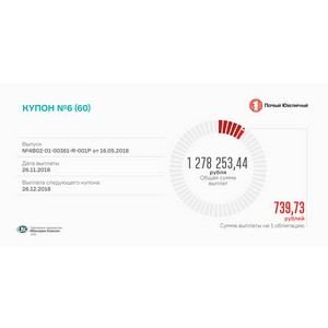 Состоялась выплата 6-го купона по облигациям «Первого ювелирного»