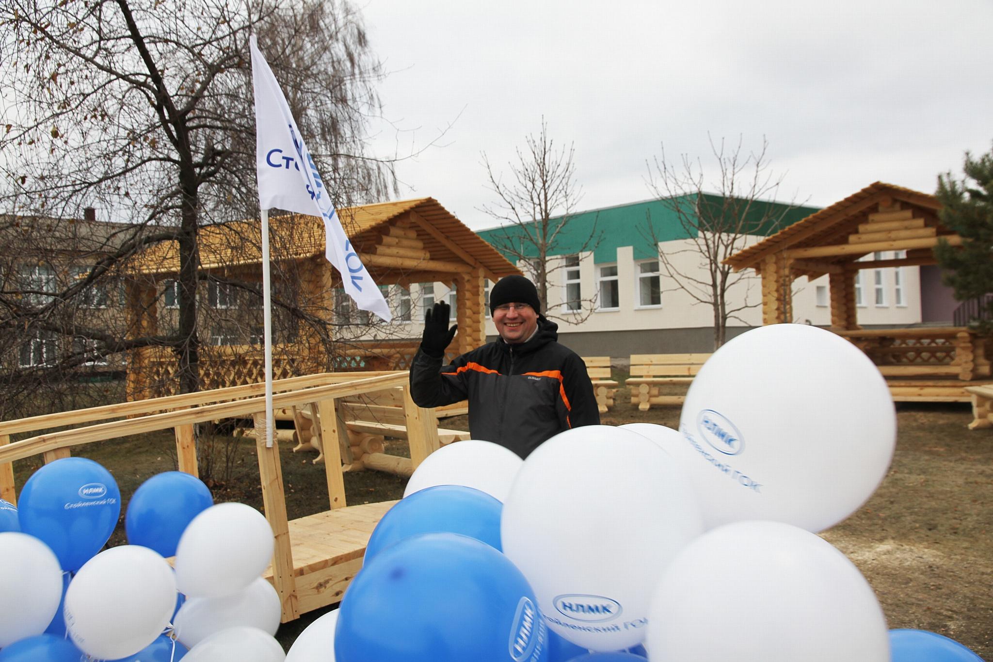 Сотрудник Стойленского ГОКа создал экологическую площадку для школьников