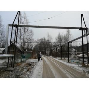 После сигнала ОНФ в Карелии восстановлен слой теплоизоляции надземных теплосетей в поселке Харлу
