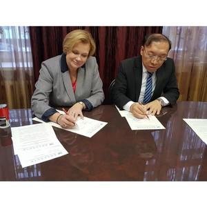 Романовская школа подписала трёхсторонний договор о сотрудничестве со школами Иркутска и Китая