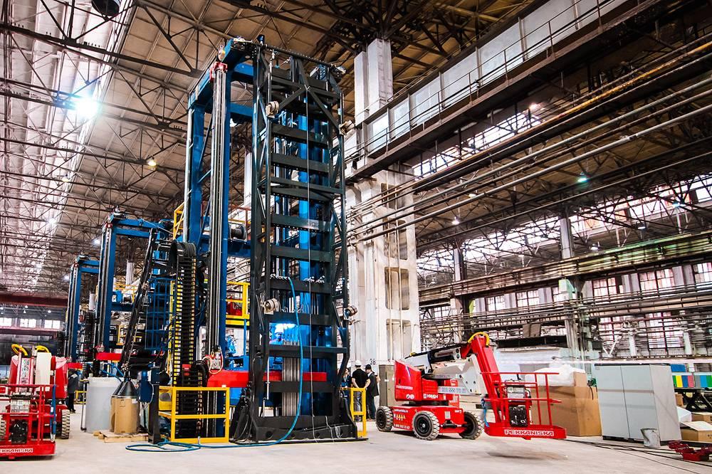 Завершается строительство первого котла для мусоросжигательного завода