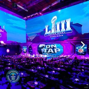 Супербоул на самом большом экране мира в Music Media Dome