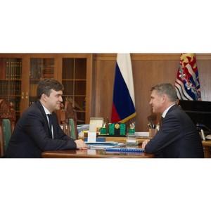 Губернатор Ивановской области провел встречу с гендиректором МРСК Центра Игорем Маковским