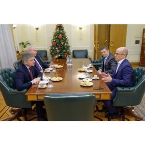 Глава Удмуртии Александр Бречалов и генеральный директор МРСК Центра Игорь Маковский провели встречу