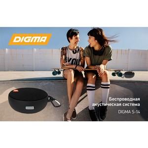 Беспроводная акустическая система Digma S-14: музыка в путешествии