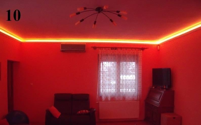 Кейс. Разноцветная подсветка потолка