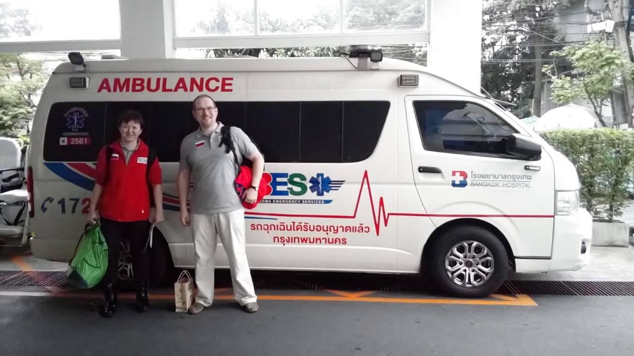 «Петербургская Неотложка» сопроводила пациента из Таиланда