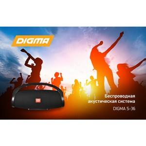 Беспроводная акустическая система Digma S-36: громче музыку!