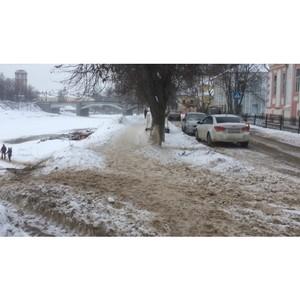 Вологодские активисты ОНФ выявили нарушения качества уборки снега в Вологде и Череповце