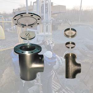 Фитинг тройник для врезки и перекрытия трубопровода