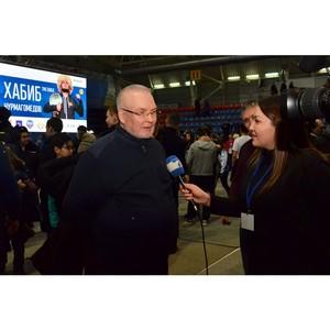 Боец смешанных единоборств Хабиб Нурмагомедов встретился со спортивной общественностью Югры