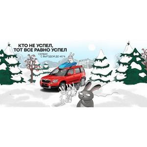 Зимний сервис Škoda с выгодой до 40%