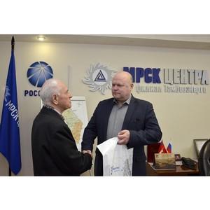 Тамбовские энергетики поздравили с 80-летием заслуженного ветерана отрасли Анатолия Истомина
