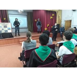 Подарок для росгвардейцев Тувы в День Защитника Отечества – концерт от учащихся подшефной школы