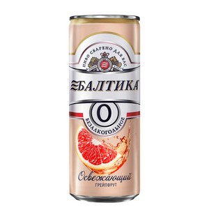 Освежающая сила грейпфрута от «Балтики 0»