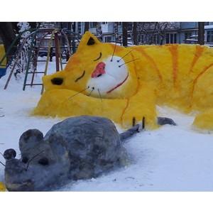 На организованный вологодским отделением ОНФ конкурс снежных фигур поступило более 250 работ