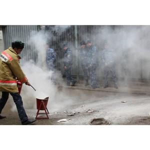 В СИЗО №1 отработаны на практике умения и навыки использования первичных средств пожаротушения