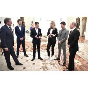 В.Путин встретился с победителями конкурса «Немалый бизнес»