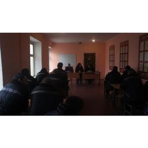 Осужденных ИК №8 посетили специалисты Центра занятости населения Астраханской области