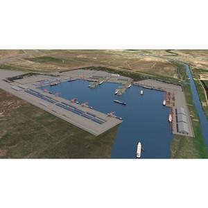 """В Москве обсудили перспективы строительства порта """"Лагань"""" и канала «Евразия»"""
