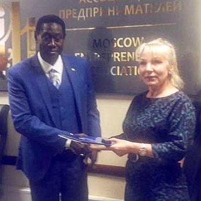 Встреча членов ассоциации с Сулеманом Анта Ндяй