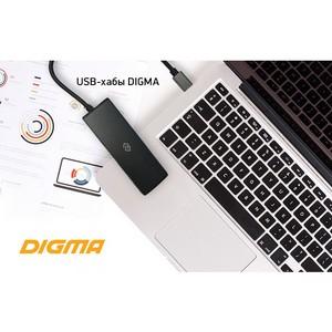 USB-хабы Digma для устройств с портами USB Type-C