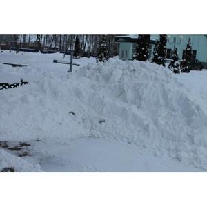 ѕосле обращений ќЌ' местные власти убрали вы¤вленные снежные завалы