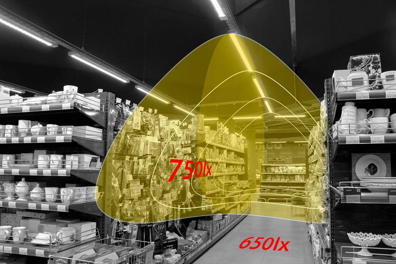 Освещение супермаркета «Риомаг»