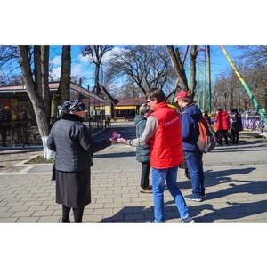 «Молодежка ОНФ» в Кабардино-Балкарии поздравила жительниц Нальчика с Международным женским днем