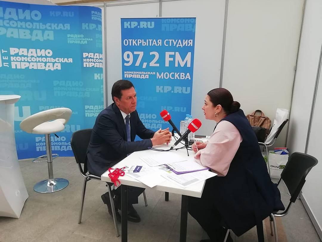 Открытая студия радио «Комсомольская правда» на выставке «Недвижимость от лидеров»