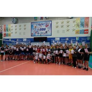 Участники первенства Югры по волейболу присоединились к международной акции