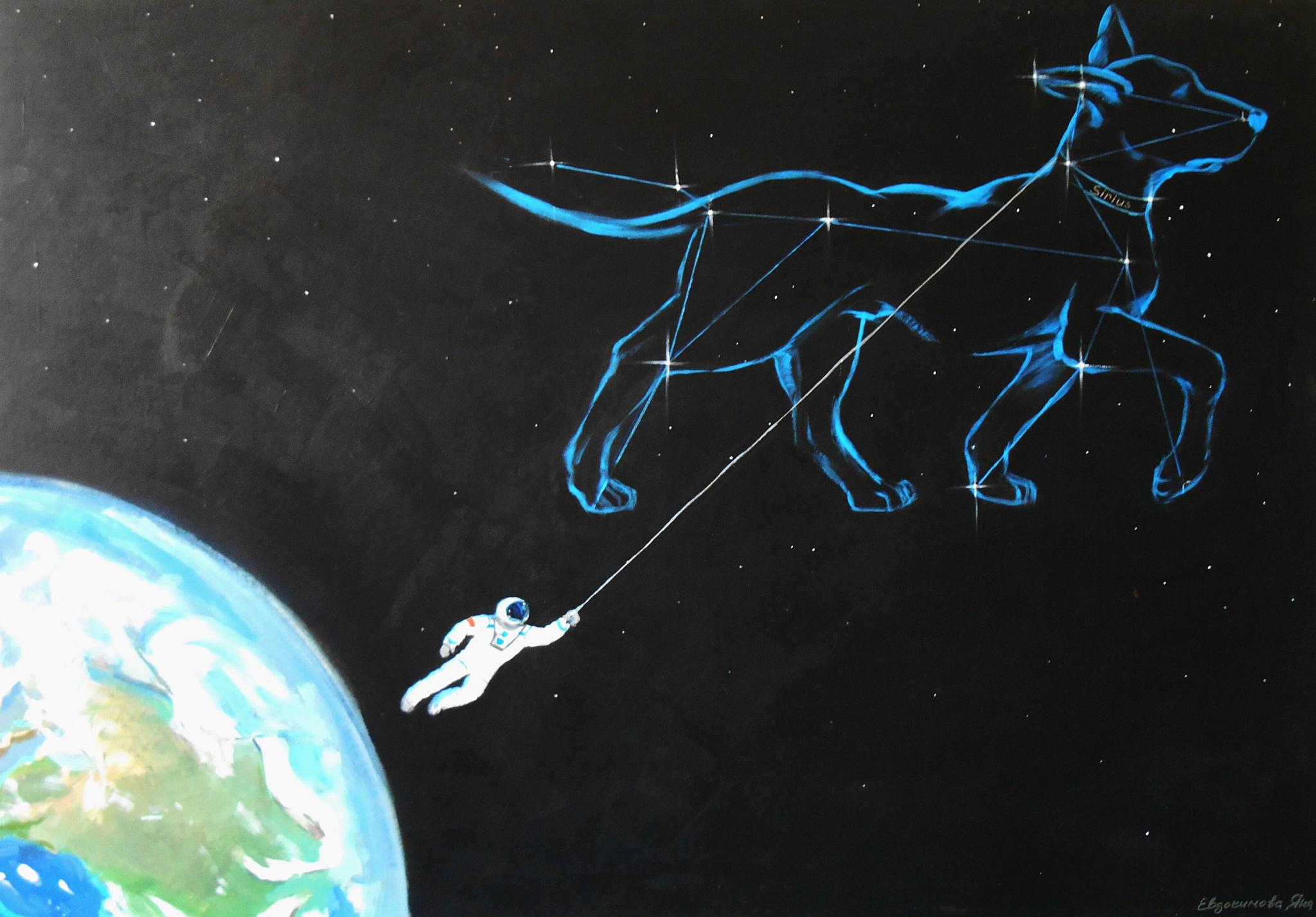 Художница Яна Евдокимова представит серию работ «Космос. Время. Я»