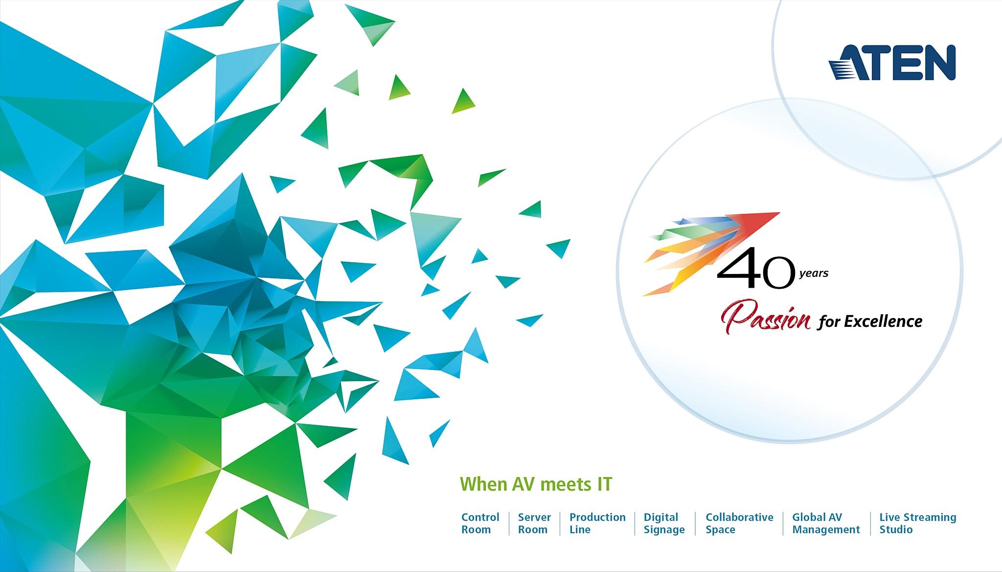 Aten отмечает 40-летний юбилей достижений в AV & IT на Computex 2019