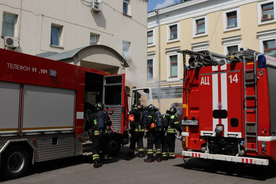 Пожарная тревога в ЦТУ была учебной
