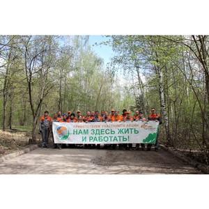 Сотрудники «Липецкцемента» вышли на экологический субботник в Нижний парк