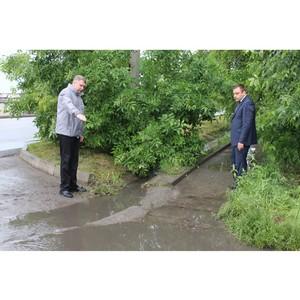 ОНФ в КБР просит местные власти наладить систему водоотведения в микрорайоне Нальчика