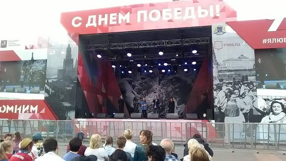 9 мая актеры Театра живого слова отыграли концертную программу на ВВЦ
