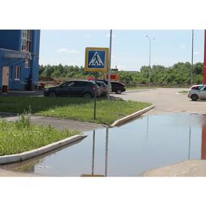 В Саранске во время дождей подтопляются въезды в новый микрорайон
