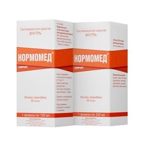 Препарат Нормомед® в форме сиропа одобрен к применению без рецепта