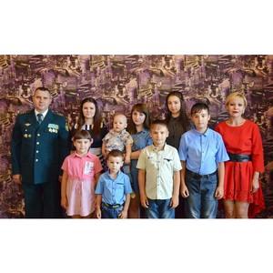 Четыре  дочки и четыре сыночка