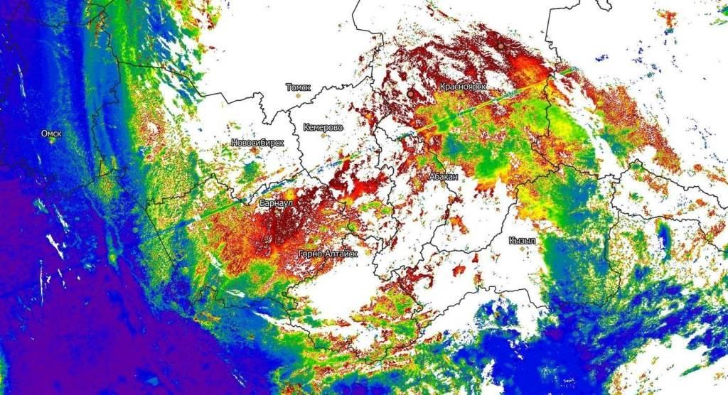 Центр космического мониторинга АлтГУ вновь сообщил о замутненности атмосферы
