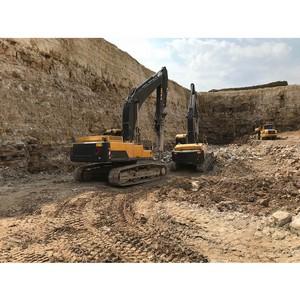Безвзрывная добыча полезных ископаемых в Тульской области с гидромолотами Epiroc