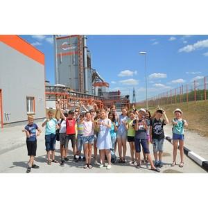 Школьники в гостях у Воронежского филиала «Евроцемент груп»
