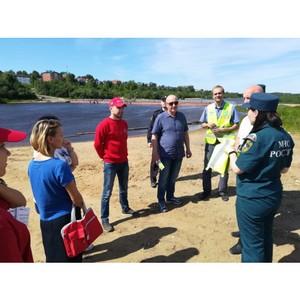 «Молодежка ОНФ» в Коми приняла участие в рейде по несанкционированным пляжам в Сыктывкаре