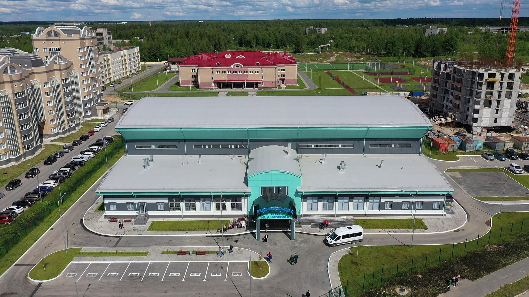Новый ледовый дворец построен в Мирном