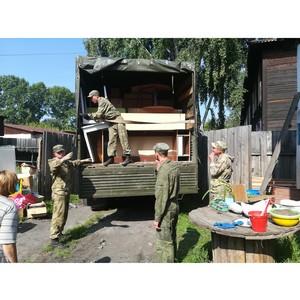 Росгвардейцы оказывают помощь в восстановлении детского сада