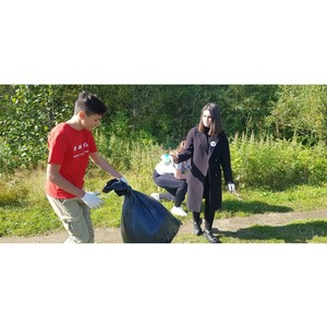 «Молодёжка ОНФ» провела субботник в Усть-Большерецком районе