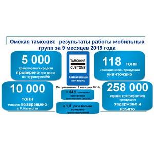 Более 10 тысяч тонн товаров возвращено Омской таможней в Казахстан